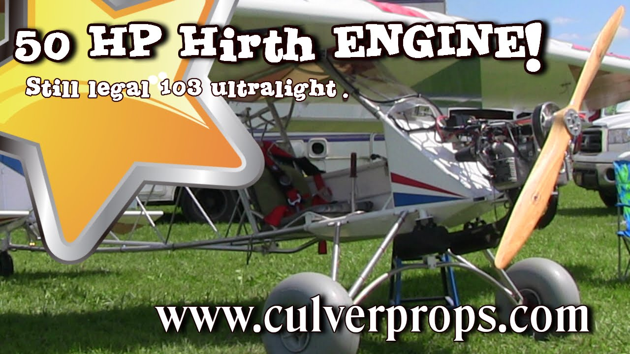 Backyard Flyer Part - 18: Backyard Flyer, 50 HP Hirth F23 Engine, Legal Ultralight Aircraft, Valley  Engineering. - YouTube
