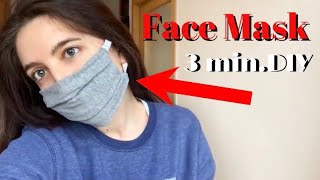 Face Mask, NO Sewing Machine❌From T-shirt| The Easiest DIY😍