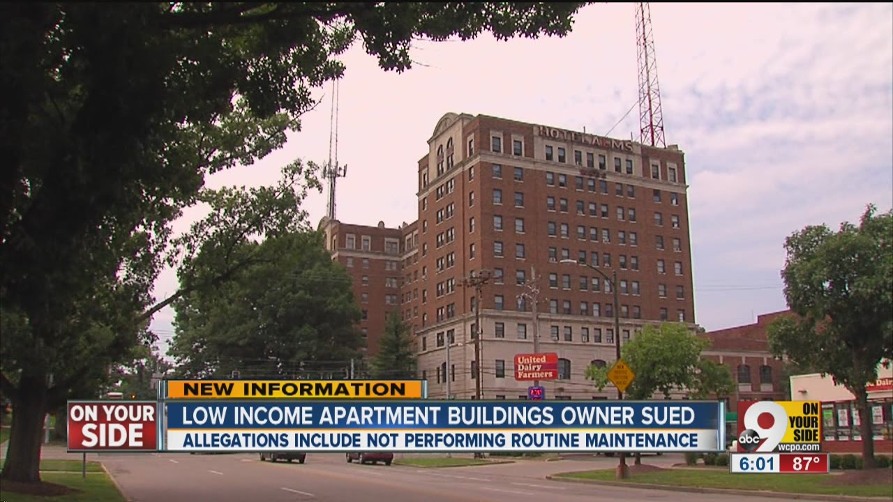 Low income apartment buildings owner sued