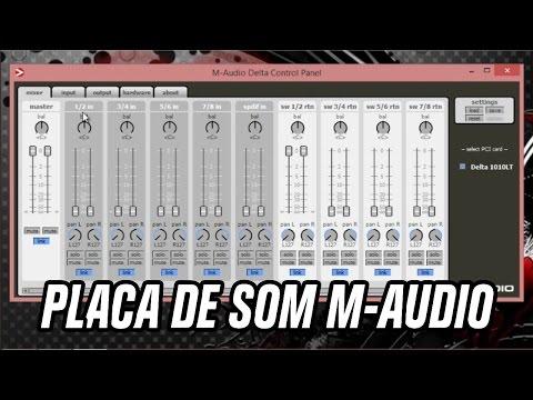 (SOLUÇÃO) PLACA DE SOM M-AUDIO NÃO ABRE PAINEL
