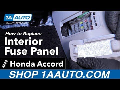 How to Find Interior Fuse Panel 08-12 Honda Accord - YouTube Honda Accord Tourer Fuse Box on