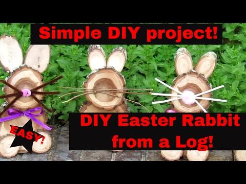 DIY Log Rabbit - Easter Bushcraft Rabbit