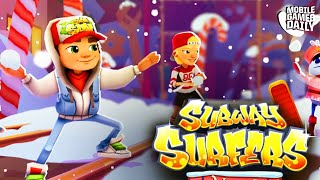 SUBWAY SURFERS All New Winter Holiday Update Gameplay (iOS Android)