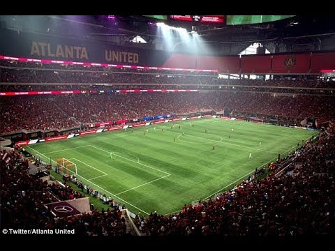Atlanta united mercedes benz stadium youtube for Mercedes benz stadium atlanta united