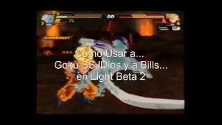Budokai Tenkaichi 3 Versión! Latino Light Beta 2 - Como Usar A Goku SSJDios Y A Bills