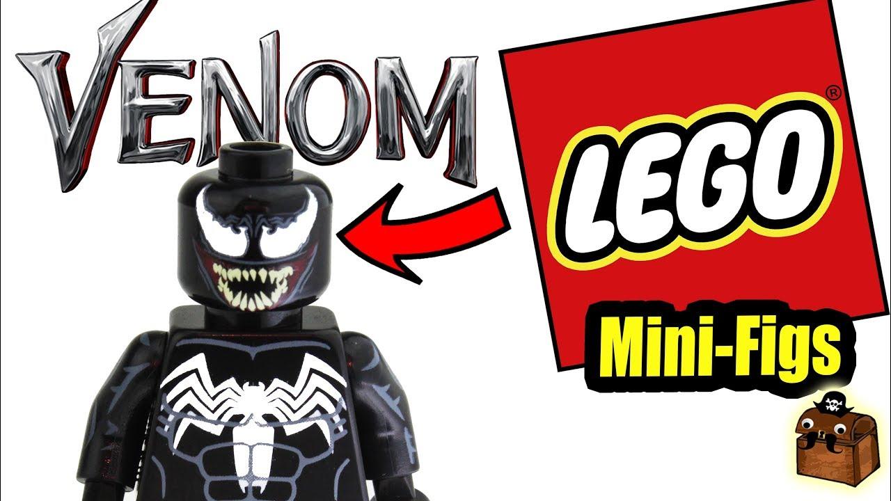Venom Minifigure 2018 Marvel Comics Figure For Custom Lego Minifigures