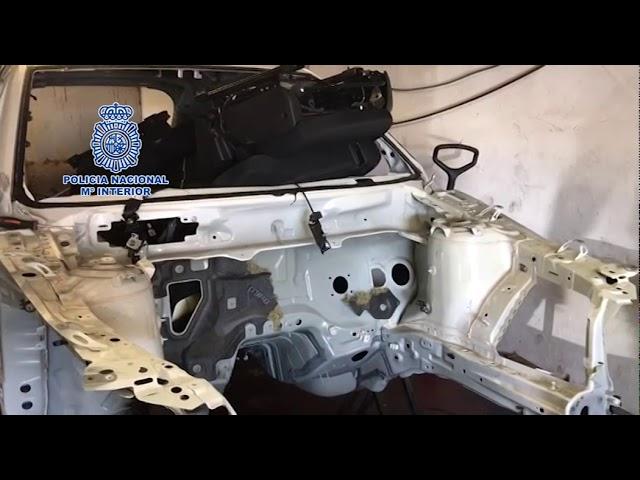 La Policía Nacional desmantela un taller clandestino que desmontaba en pocas horas vehículos sustraídos para su venta por piezas