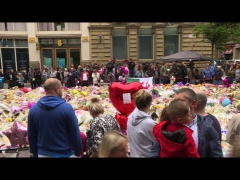 AFP news agency: Tributes continue in Manchester one week after attack