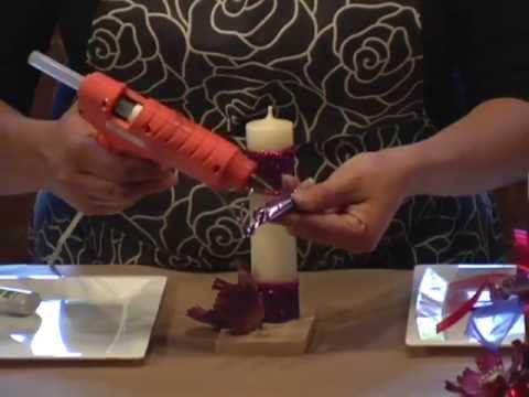 Recuerdo para xv a os con velas y dulces diy sweet - Como decorar un salon para comunion ...