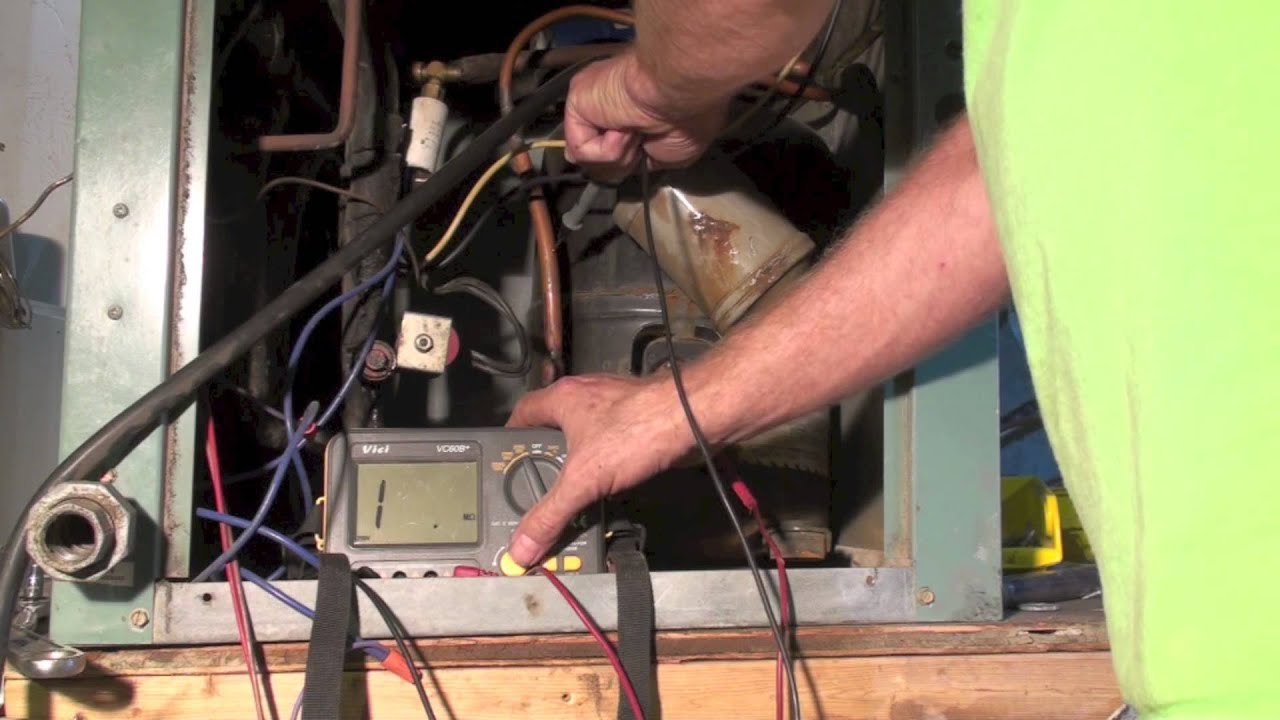 Check compressor windings with the insulation tester