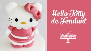Paso a Paso Hello Kitty con fondant. 2ª Parte Tarta Hello Kitty