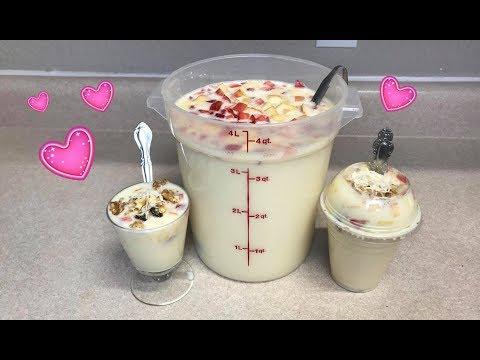 Yogurt Casero de Pina y Fruta Estilo8a