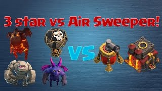 [Clash of Clans] 3 Star Air Raid vs Air Sweeper (max TH10 Lavaloonion)