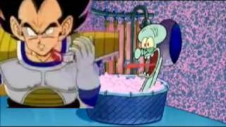 Vegeta Drops By Squidward