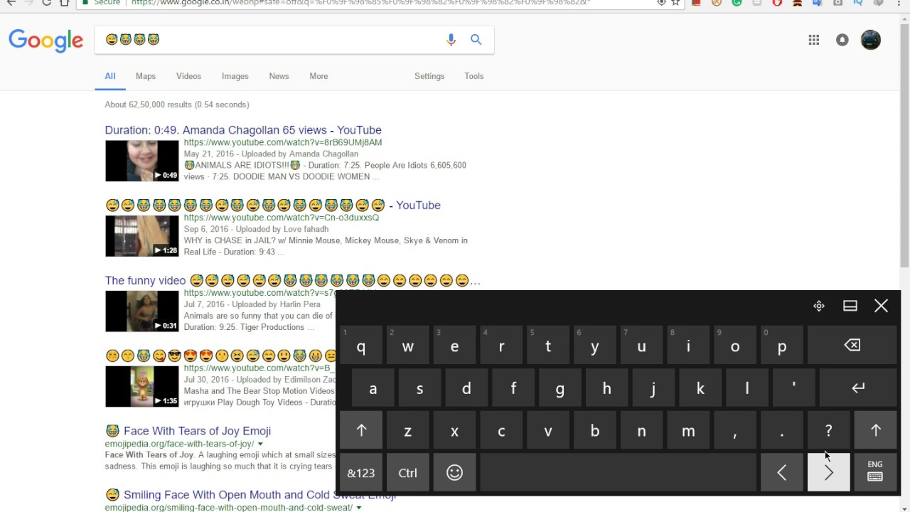 How to open inbuilt windows 10 touch keyboard for emojis🤓