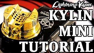 Vandy Vape Kylin Mini RTA Rebuild & Wicking Tutorial - By Lightning Vapes