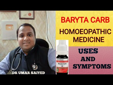 BARYTA CARB HOMOEOPATHIC MEDICINE USES AND SYMPTOMS