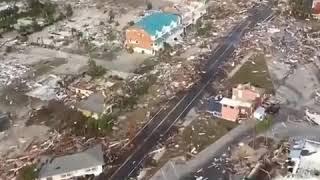 Uragano Micheal, immagini di pura devastazione riprese dall'elicottero