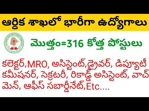 Telangana Revenue Department Recruitment 2018 - 316 Jobs
