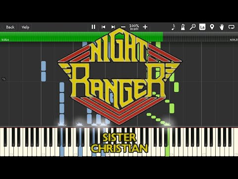 Sister Christian by Night Ranger Synthesia cover