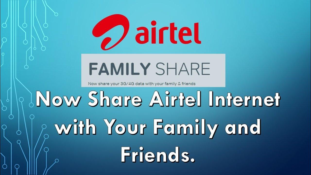 How to share Airtel Internet Data Balance   Airtel Data Share   Hindi