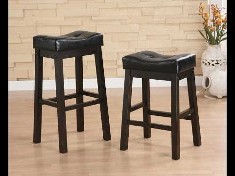 Padded Saddle Bar Stools