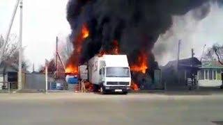 Пожар на западе Бишкека