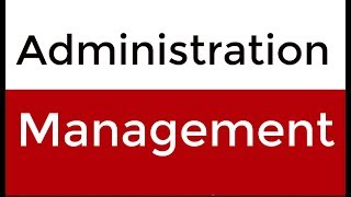Difference Between Management and Administration Hindi - Urdu