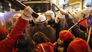 Girls vs Cops: Violent clashes erupt at Intl Women