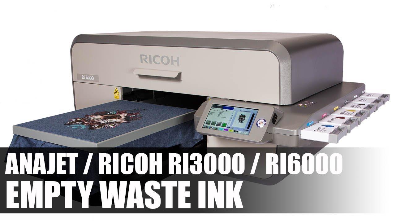 dda0a9c7e Anajet / Ricoh RI3000 / RI6000 - Empty the Ink Waste Bin - Digital T-Shirt  Shop