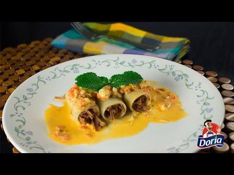 Guarguerones Doria rellenos de carne desmechada