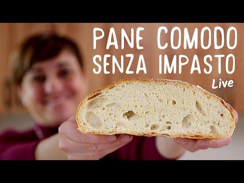 PANE COMODO FATTO IN CASA DA BENEDETTA - Ricetta Facile Senza Impasto (LIVE)