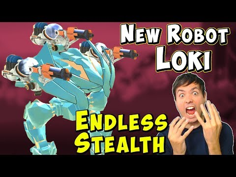 New Stealth Robot LOKI - War Robots Test Server Ragnarok Gameplay WR