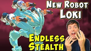 New Stealth Robot LOKI - War Robots Test Server Ragnarok Gameplay WR