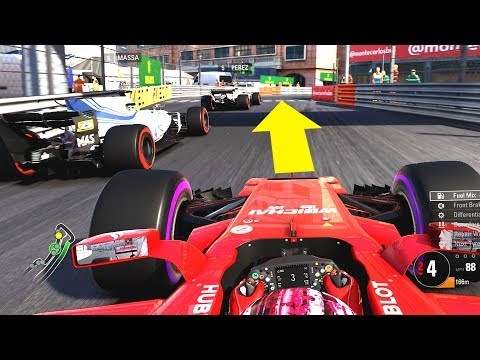 AUDACIOUS MOVES IN MONACO! - F1 2017 Online Career Mode Part 6