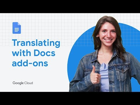 Translating with Docs Add-ons