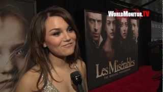 Samantha Barks interviewed at 'Les Miserables' New York Premiere
