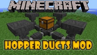 HOPPER DUCTS MOD - Filtra y transporta Items - Minecraft mod 1.5.x, 1.6.x, 1.7.x y 1.8 Review