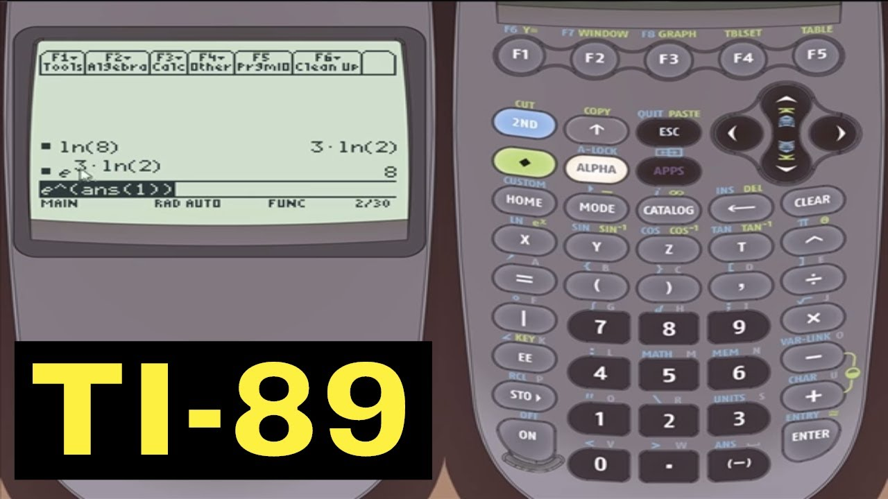 Ti 89 Calculator 06 Logarithms And Square Roots Youtube