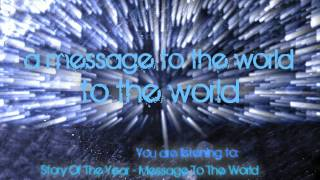 Story Of The Year - Message To The World with Lyrics in HD