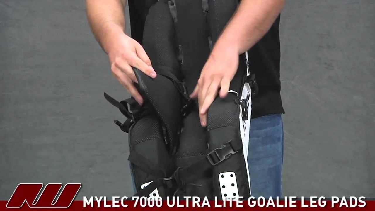 Mylec 7000 Series Ultra Lite Goalie Leg Pads Youtube