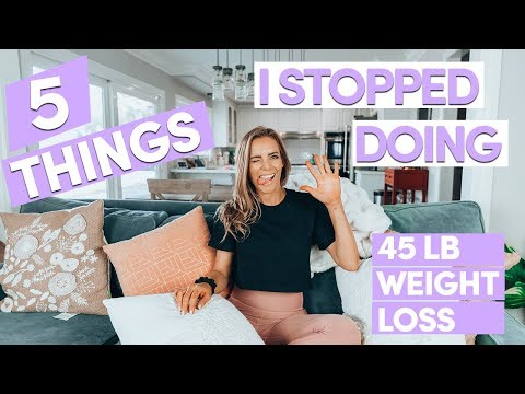 5 Things I STOPPED Doing To Lose 45 lbs | My Healthy Weight Loss Story