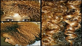my best wash and go   defined blonde curls   color treated natural hair