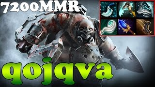 Dota 2 - qojqva 7200MMR Plays Pudge - Ranked Match Gameplay