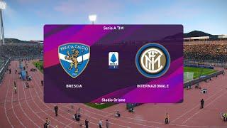 Brescia Vs Inter Milan   Serie A 29 October 2019 Gameplay
