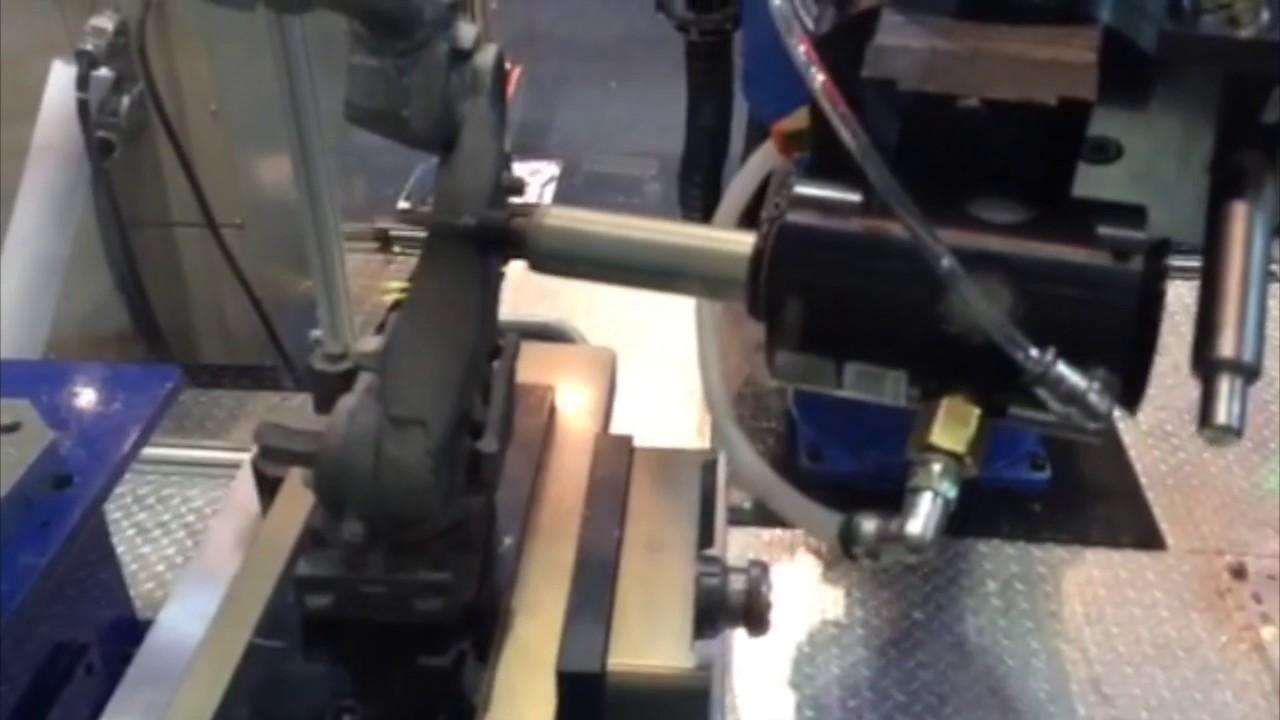 Robotic Deburring on FANUC Robot by Air Turbine Spindles® 50000 rpm 0 50  hp 625LJS HD