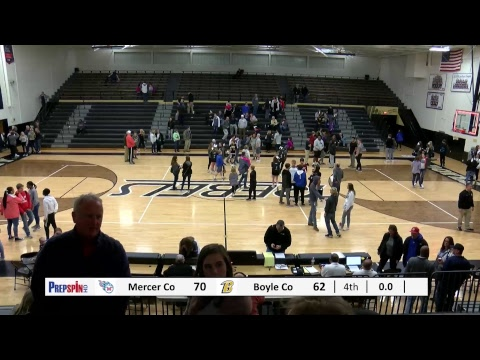 Mercer County at Boyle County - Boys HS Basketball