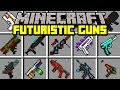 Minecraft FUTURISTIC GUNS MOD! | CRAFT OP WEAPONS AND GUNS! | Modded Mini-Game