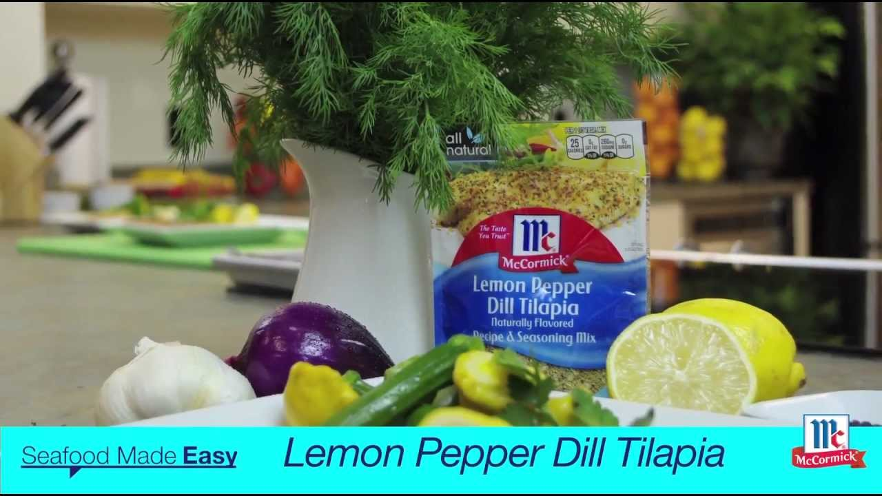 How To Make Tilapia  Lemon Pepper Dill Tilapia Recipe