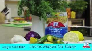 How To Make Tilapia - Lemon Pepper Dill Tilapia Recipe